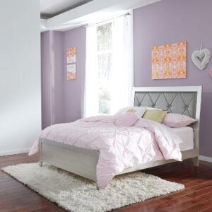 Olivet - Silver - Full Panel Bed