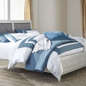 Olivet - Silver - King Panel Bed