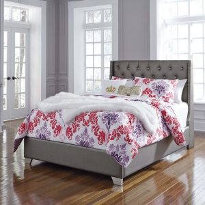 Coralayne - Silver - Full UPH Panel Bed