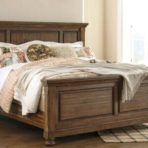 Flynnter - Medium Brown - California King Panel Bed