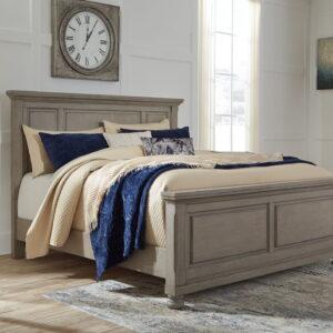 Lettner - Light Gray - Queen Panel Bed