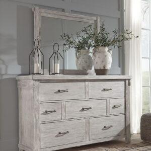 Brashland - White - Dresser & Mirror