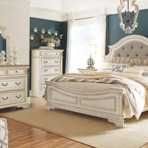 Realyn - Two-tone - King UPH Panel Bed