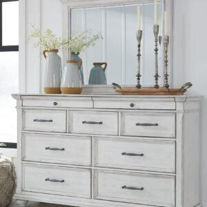 Kanwyn - Whitewash - Dresser & Mirror