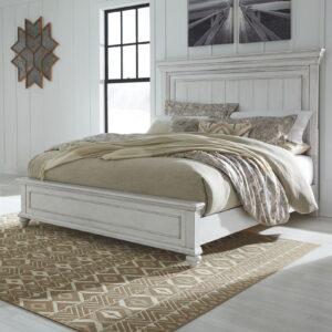 Kanwyn - Whitewash - Queen Panel Bed