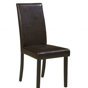 Kimonte - Dark Brown - Dining UPH Side Chair each (2/CN)