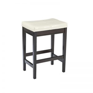 Kimonte - Dark Brown - 5 Pc. - RECT DRM Counter Table, 2 Cream UPH Barstools & 2 UPH Barstools 1