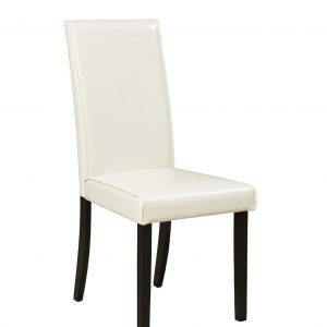 Kimonte - Dark Brown - 5 Pc. - RECT DRM Table, 2 Ivory UPH Side Chairs & 2 Brown UPH Side Chairs 1