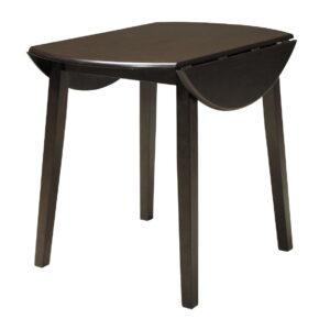Hammis - Dark Brown - Round DRM Drop Leaf Table