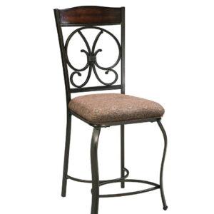 Glambrey - Brown - Upholstered Barstool (4/CN)