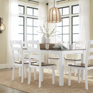 Woodanville - Cream/Brown - Dining Room Table Set (7/CN)