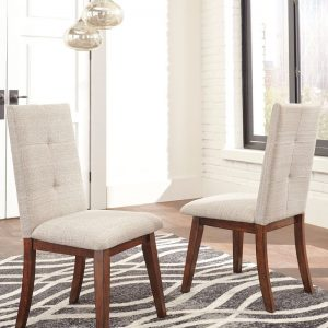 Centiar - Two-tone Brown - 8 Pc. - RECT DRM Table, 6 UPH Side Chairs & Server 1
