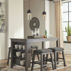 Caitbrook - Gray - RECT Dining Room Counter Table 1