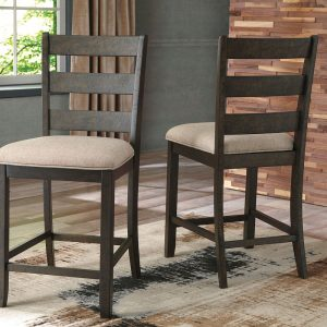 Rokane - Light Brown - Upholstered Barstool (2/CN)