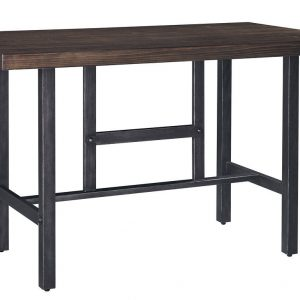 Kavara - Medium Brown - 3 Pc. - RECT DRM Counter Table & 2 Double Barstools 1