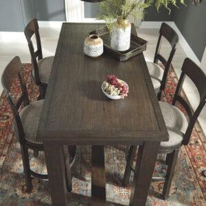 Drewing - Brown - Rectangular Bar Table 1