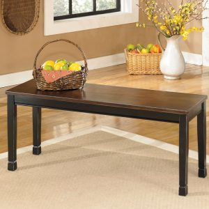 Owingsville - Black/Brown - 6 Pc. - RECT DRM Table, 4 Side Chairs & Bench 1