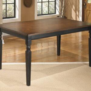 Owingsville - Black/Brown - Rectangular Dining Room Table