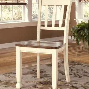 Whitesburg - Brown/Cottage White - 6 Pc. - Round DRM Table & 4 Side Chairs 1