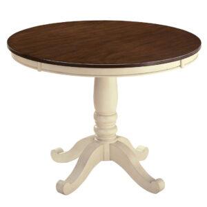 Whitesburg - Brown/Cottage White - Round DRM Table