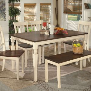 Whitesburg - Brown/Cottage White - 6 Pc - RECT DRM Table