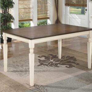 Whitesburg - Brown/Cottage White - Rectangular Dining Room Table