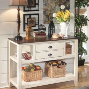 Whitesburg - Brown/Cottage White - Dining Room Server