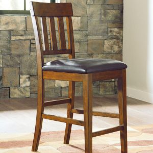 Ralene - Medium Brown - Upholstered Barstool (2/CN)