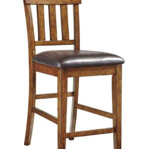Ralene - Medium Brown - Upholstered Barstool (2/CN) 1