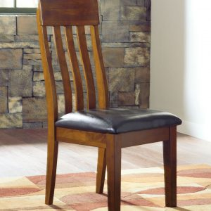 Ralene - Medium Brown - 8 Pc. - RECT DRM Butterfly EXT Table, 6 UPH Side Chairs & Server 1