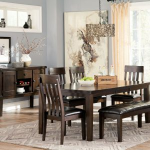 Haddigan - Dark Brown - 6 Pc. - RECT DRM EXT Table