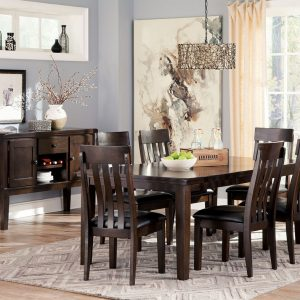 Haddigan - Dark Brown - 8 Pc. - RECT DRM EXT Table