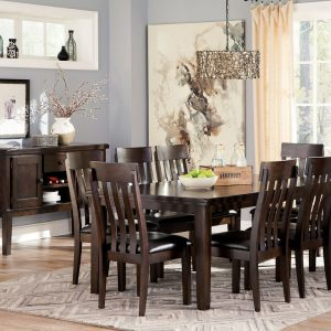 Haddigan - Dark Brown - 10 Pc. - RECT DRM EXT Table