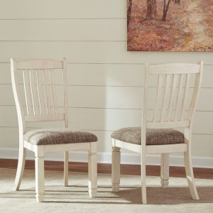 Bolanburg - Antique White - 11 Pc. - RECT DRM Table, 6 UPH Side Chairs, DRM Server & 3 Display Cabinets 1