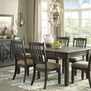 Tyler Creek - Black/Gray - 8 Pc. - RECT DRM Table