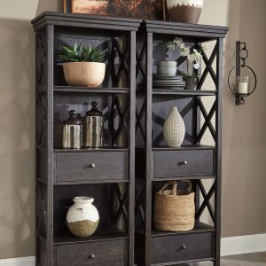 Tyler Creek - Black/Gray - Display Cabinets (2)