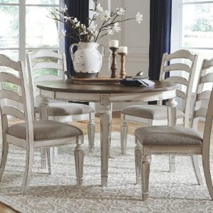 Realyn - Chipped White - Dining UPH Side Chair each (2/CN) 1