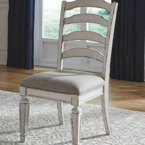 Realyn - Chipped White - Dining UPH Side Chair each (2/CN)