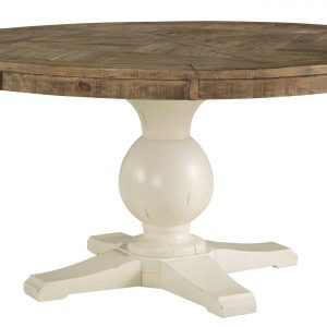 Grindleburg - Antique White - Dining Room Table Base