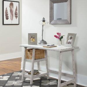 Mirimyn - Antique White - Home Office Small Desk