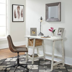 Mirimyn - Antique White - Small Desk & Swivel Desk Chair