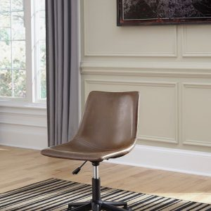 Mirimyn - Black - Small Desk & Swivel Desk Chair 1
