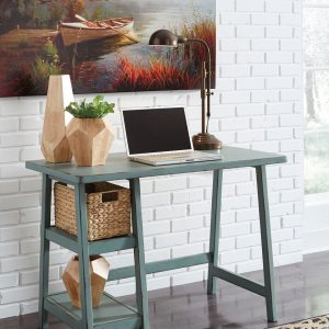 Mirimyn - Teal - Home Office Small Desk