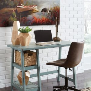 Mirimyn - Teal - Small Desk & Swivel Desk Chair