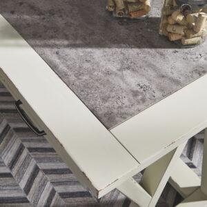 Jonileene - White/Gray - Home Office Large Leg Desk 1