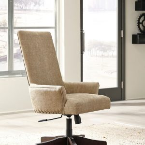 Baldridge - Light Brown - UPH Swivel Desk Chair