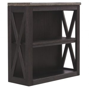 Tyler Creek - Grayish Brown/Black - Medium Bookcase