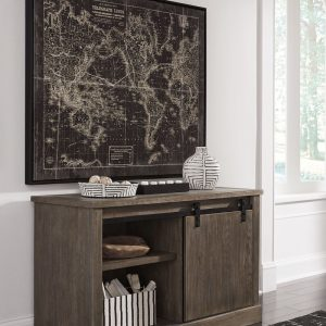 Luxenford - Grayish Brown - Large Credenza with Hutch 1