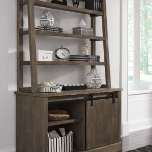 Luxenford - Grayish Brown - Large Credenza with Hutch