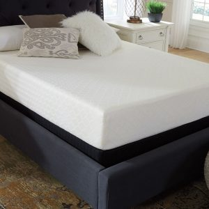 10 Inch Chime Memory Foam - White - Mattress & Foundation
